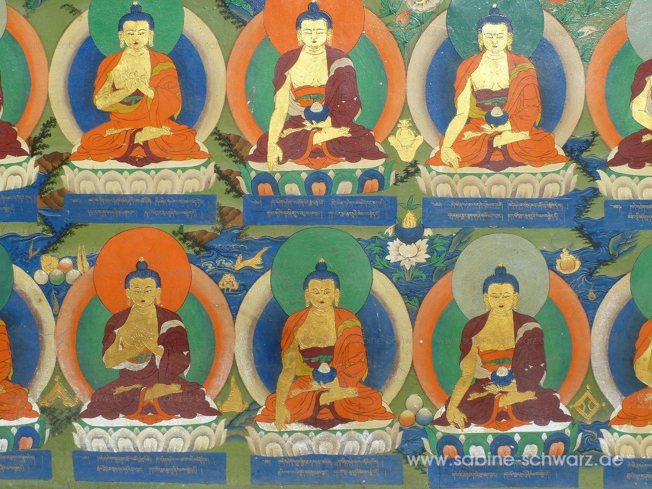 Buddhabilder aus Kloster in Tibet fotografiert von Sabine Schwarz