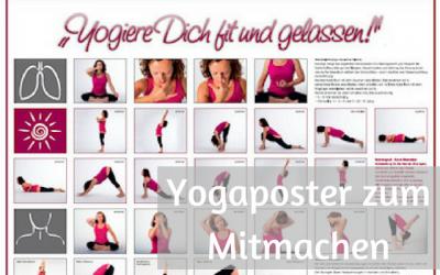 Yogiere dich fit und gelassen – Yogaposter