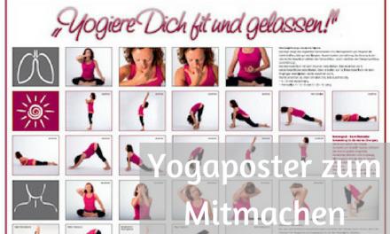 Yogiere dich fit und gelassen – NEU NEU NEU – Yogaposter
